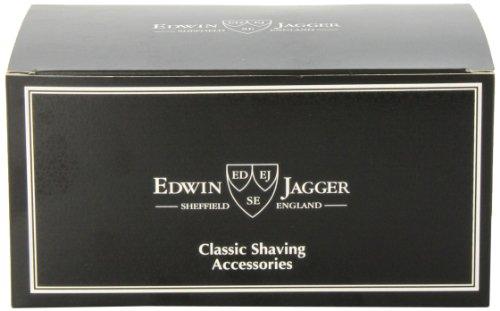 Edwin Jagger Rasurset, Rasierpinsel, Rasierer und Ständer, Elfenbeinimitation Abbildung 3