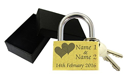 Personalised Engraved Love Lock