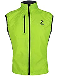 ARSUXEO Hombre Mujer Primavera Otono Ultrafino Correr Ciclismo Chaleco Resistente a Viento Capa sin Mangas Ropa causal impermeable XXL verde