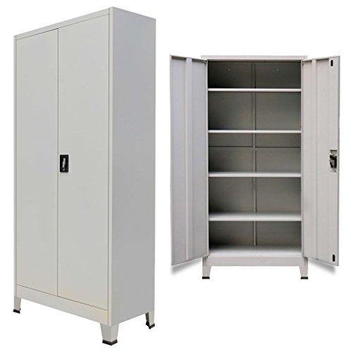 Vislone Armario Archivador de Oficina Armario de Oficina Mueble Archivador Mueble de Oficina Acero con 2...