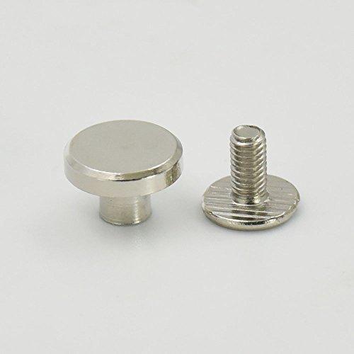 50Set 9.5mm 3/20,3cm in ottone testa piatta pulsante orecchini Screwback spot per vite Chicago nail Nickle Gold color Choice Nickle