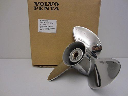 Volvo Penta SX Stern Drive OEM Stainless Steel Prop 14.75 x 19 Propeller 3860708 14-3/4 by Volvo Penta -