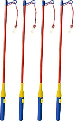 iLP 4er Set Laternenstab ca.49cm für Kinder-Geburtstag, Party, Laternen-Umzug, St. Martin und mehr 4er-Pack