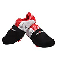 Cycling Shoes Cover Sports Wear Moutain Bike Shoe Toe Cover Protectors Winter Warm Boot Cover Black Fabric