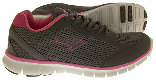 Baskets Gola Active Fitness chaussures d'exercice Sz Femme Taille 345678 Gris - Grey & Pink