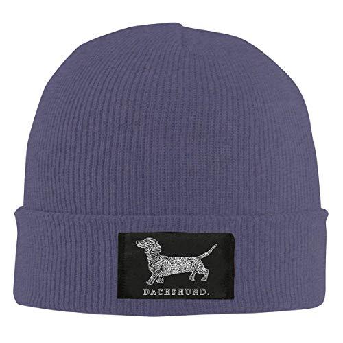 Unisex Dackel Doxen Weiner Word Art Hundebesitzer Strickmütze, 100% Acryl Wollmütze Mütze