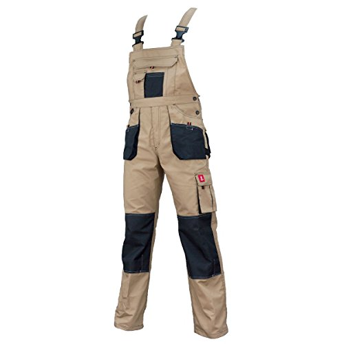 Urgent. Latzhose Schutzhose Arbeitskleidung Arbeitshose Farbeauswahl. URG-A/B/C/D (52 EU, URG-C | Beige)