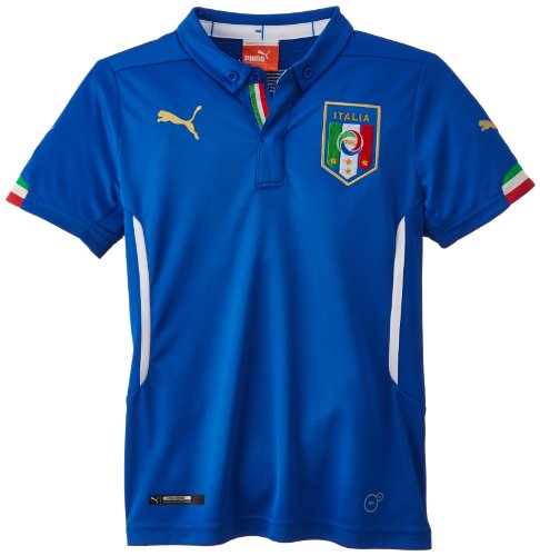 Puma Kinder Trikot FIGC Italia Kids Home Shirt Replica Italien, Team Power Blue, 176 -