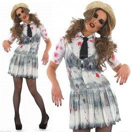 Zombie school girl - halloween - adult costume - medium - 40-42