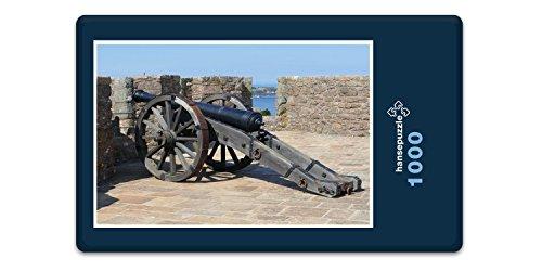 hansepuzzle 20507 Orte - Burg auf Jersey, 1000 Teile in hochwertiger Kartonbox, Puzzle-Teile in wiederverschliessbarem Beutel