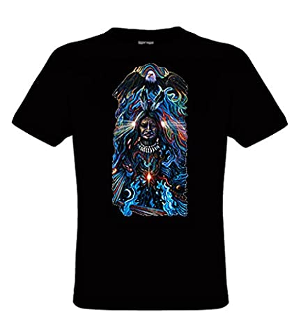 DarkArt-Designs Eagle Spirit - Native American Eagle T-Shirt for children and adults - Ethno Shirt Eagle Indian Wildlife Fun Party&Going out Lifestyle regular fit, Black, L