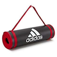 Idea Regalo - adidas Tappetino Fitness - Nero, 10 mm