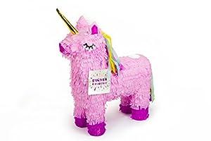 Trendario Einhorn Pinata - 57x37cm groß in Rosa / Pink - ungefüllt - Ideal zum Befüllen mit Süßigkeiten und Geschenken - Piñata für Kindergeburtstag Spiel, Geschenkidee, Party, Hochzeit