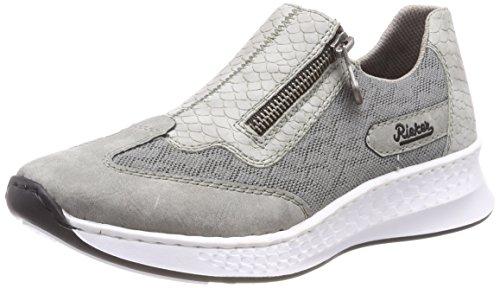 Rieker Damen N5653 Sneaker, Grau (Cement/Dust), 36 EU