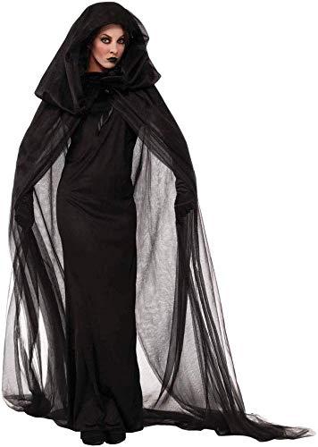 RAXYQ Halloween Kostüm Night Wandering Soul Female Ghost Kostüm Hexe Hexen Robe Nachtclub Rave Party - 70's Soul Kostüm