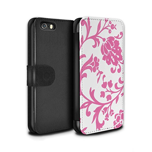 Stuff4 Coque/Etui/Housse Cuir PU Case/Cover pour Apple iPhone 5/5S / Pack (5 Pack) Design / Motif floral Collection Fleurs Rose