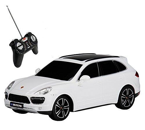RC Modellauto Porsche Cayenne Turbo ferngesteuert mit Licht 1:18, weiss