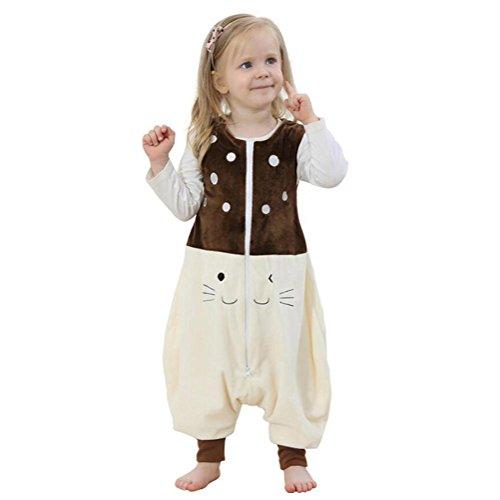 Sacco a pelo tuta per bambini pigiama unisex adulto cosplay halloween costume animale pigiama adatto per bambini da 1 a 6 anni, 4