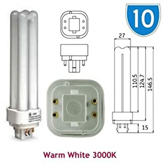10 x GE 12866 biax D, E, 18 W, energiesparend, Warmweiß-Quad Stecker in G24q 4 PIN 4P, 2, 3000 K, PLC PL Glühlampen Glühlampe F18DBX SPX/30/83 (DE) 0, 4 polig