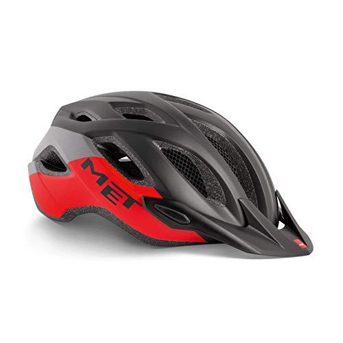 MET Crossover Fahrradhelm, Black Red, M