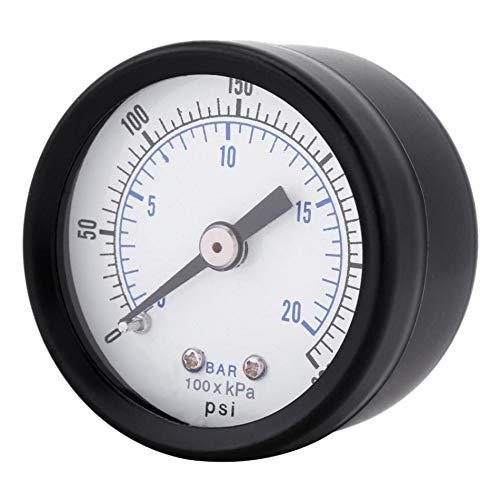 TOOGOO Ts-40 1/8 Pulgada Medidor de Presión para Combustible Aire Aceite Líquido Agua 0-20 Bar / 0-300...