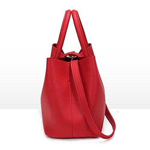JIANGFU Schulter Handtaschen,Weiche lederne Frauen Beutel Leder europäische Schulter Handtaschen Wannen Beutel Rd