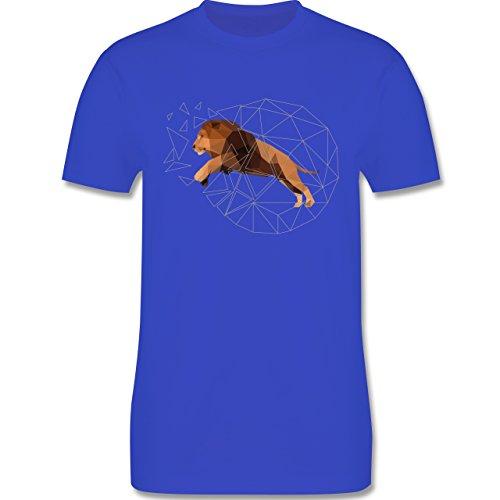 Sonstige Tiere - Freiheit Löwe - Herren Premium T-Shirt Royalblau