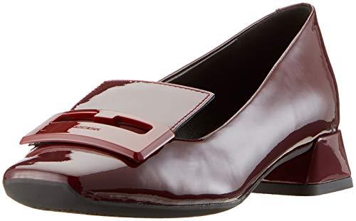 Geox Damen D Vivyanne Ballerina A Geschlossene Ballerinas, Rot (Bordeaux C7005), 38 EU -
