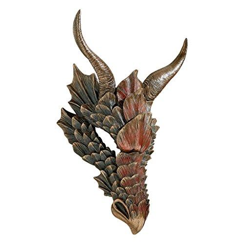 Design Toscano Halloween Dragon Federn Fenster Maske