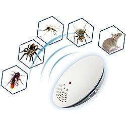 Repelente ultrasónico de plagas con luz Nocturna Multifunción Enchufe electrónico Repelente de Insectos para Eliminar cucarachas, roedores, Moscas, Hormigas, arañas, pulgas, Ratones, etc.