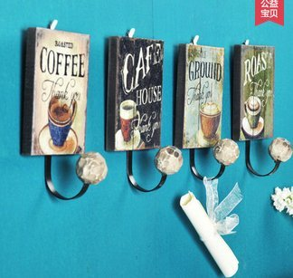 Crochet Mural Vintage Design Decoratif Porte Clés Original café café Art