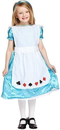 NDERLAND MÄRCHEN büchertag Halloween Kostüm Kleid Outfit 3-12 Jahre - Blau, 10-12 Years (Mädchen Alice Im Wunderland Kostüme)