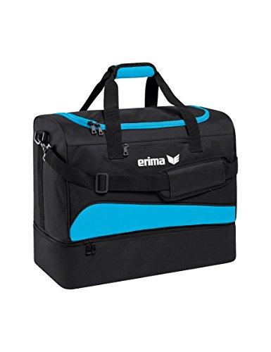erima Sporttasche mit Bodenfach Sporttasche, 50 cm, 56 Liter, Curacao/schwarz