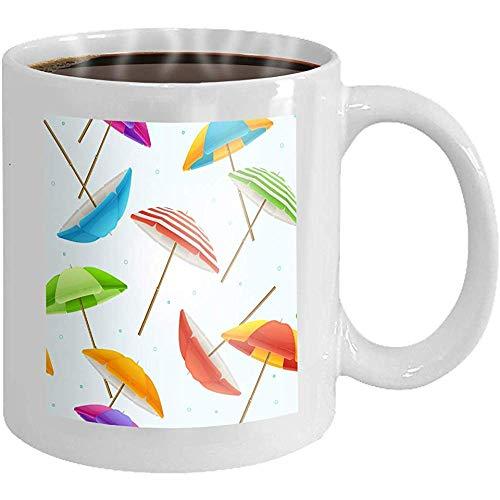 Taza de café divertida, taza de té de cerámica, taza de porcelana, regalos de la novedad Atrapasueños coloridos Perfect 11 Oz, taza de desayuno blanca