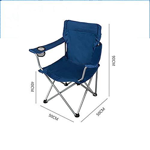 QYYzdy Faltender kampierender Stuhl im Freien mit Becherhalter, tragbarer kompakter Fischen-Stuhl-Yard-Picknicks-BBQ, der für schwere Leute wandert (Color : D)