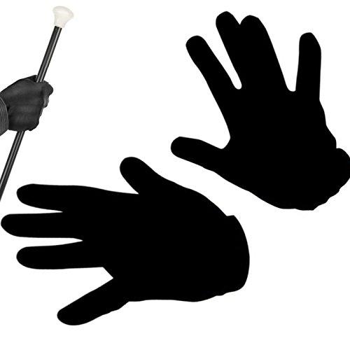 - Handschuhe Schwarz Edel ┃ 100% Polyester (Minions Halloween-kostüme Für Erwachsene)