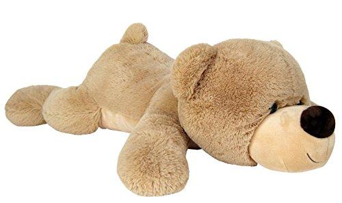 Wagner 9044 - Riesen XXL Teddybär 140 cm groß in hell-braun liegend - Plüschbär Kuschelbär Teddy Bär in beige 1,40 m