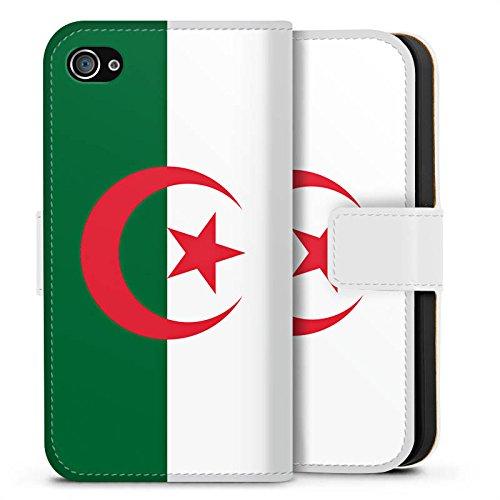 Apple iPhone X Silikon Hülle Case Schutzhülle Algerien Flagge Fußball Sideflip Tasche weiß