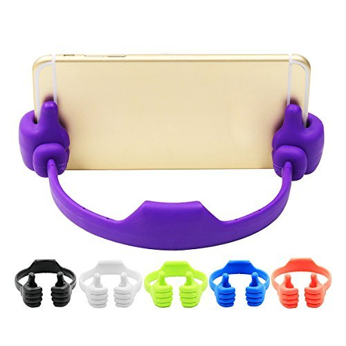 SaiTech IT Silicone Thumbs up Phone Stand, Universal Flexible Multi-angle Cute Mini Android Smart Cellphone Tablet Desk Holder for Kitchen Office Home Travel-OK Stand-(Colors May Very)  available at amazon for Rs.145