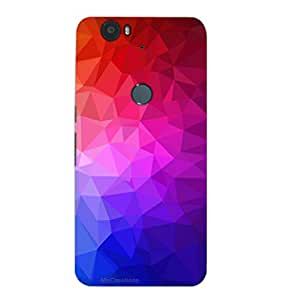 MiiCreations 3D Printed Back Cover for Huawei Google Nexus 6P,Colourfull Pattern