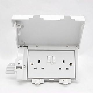 Socket Safe Twin Plug Socket Cover - White