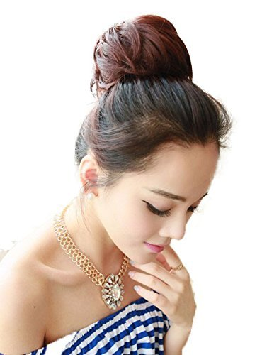 PRETTYSHOP 100% ECHTHAAR Human Hair DUTT Hochsteckfrisuren Haarteil Zopf Haarknoten Hepburn-Dutt Haargummi ...