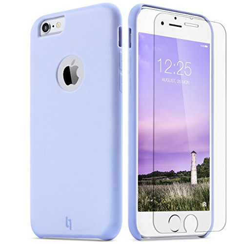 iphone-6-case-ulak-free-tempered-glass-ultra-slim-soft-silicone-hybrid-micro-fiber-scratch-dirt-resi