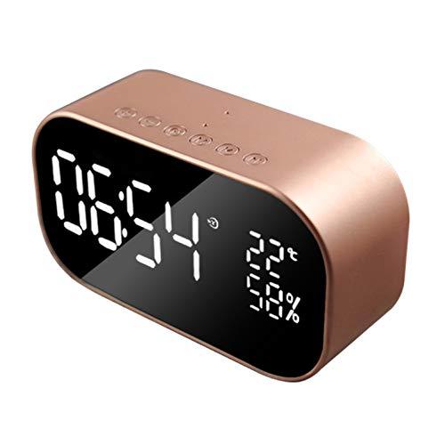 hznzh Digitaler Alarm Mit Wecker Fm Drahtlosen Bluetooth-Lautsprecher Unterstützen Ox Tf Office Schlafzimmer Familie Dozing Show-Zeit pro (Fm-bluetooth Drahtlosen)