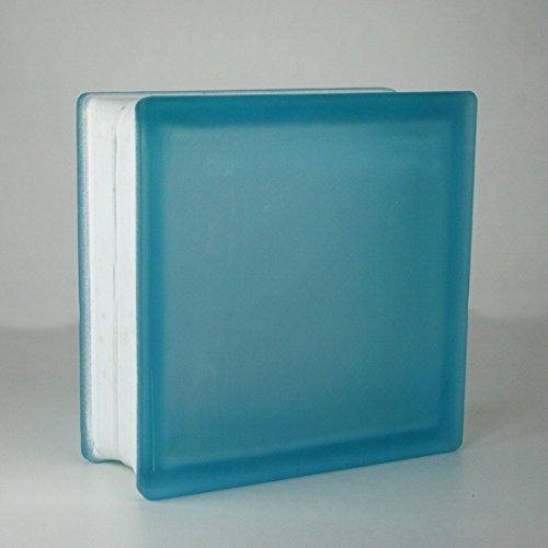 5 pezzi Vetra Vetromattone Liscio Azzurro satinato