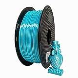 KEHUASHINA Filamento PLA Silk seda de 1.75 mm para impresora 3D - 1kg de bobina. Azul Cielo - Accesorio de impresora 3D. Material de impresión 5D