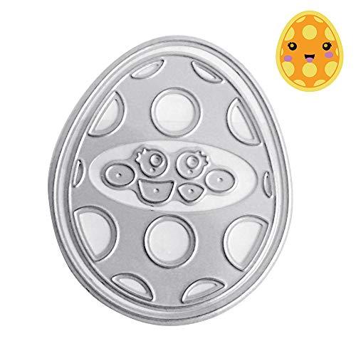 KimcHisxxv - Fustelle in metallo a forma di uovo di Pasqua, per fai da te, scrapbooking, biglietti, goffratura, stencil