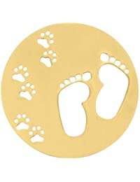 MY iMenso 33-0704 pies portada insignia plata dorada oro 33 mm
