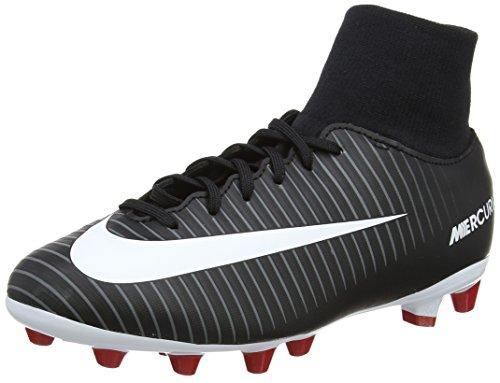 Nike Jr. Mercurial Victory 6 Df Ag-Pro, Chaussures de Football Mixte Enfant Noir (Black/white-dark Grey-university Red)