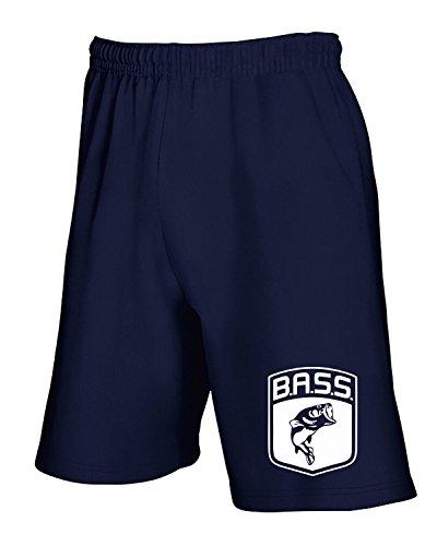 T-Shirtshock - Jogginghose Shorts FUN0712 bass logo fish largemouth die cut vinyl decal sticker 83988, Gr M (Baumwoll-shorts Bass)